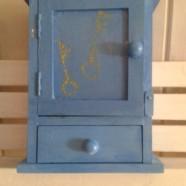 A Key storage in mild blue  – Mini Key Box in