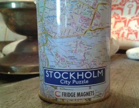 Stockholm City in a Tin – Jigsaw & Fridge magnet