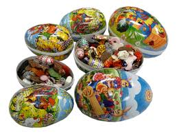 Easter Eggs of cardboard – to fill with sweets or gifts