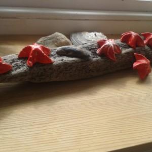 """Sjöstjärnor"" Red Starfish of Clay"