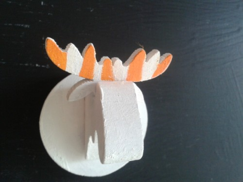 Moose Head Orange – Fridge magnet of Swedish Birch