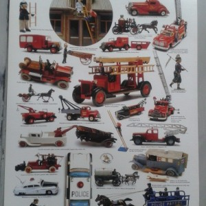 Collectable Models of Fire Engines, Police Cars and Ambulances- Swedish Nostalgia Poster