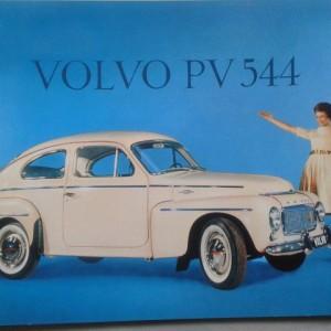 Volvo PV544 White – Nostalgia Poster