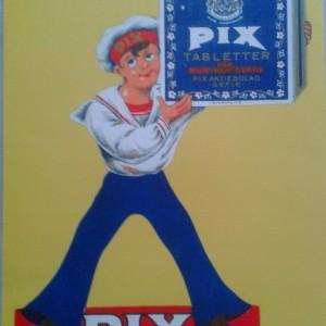 Pix Pastilles Yellow & Blue – Swedish Nostalgia Poster