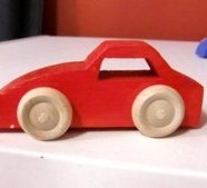 "Blue ""Down Hill  Car""  – Wooden Toy Cars – Made in Sweden (Duplicate)"