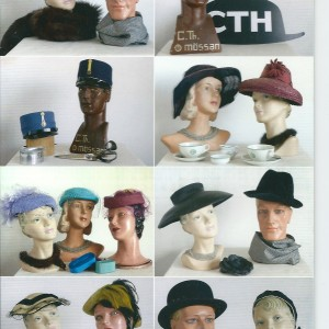 """Swedish Vintage Hats"" – Nostalgia Postcard"