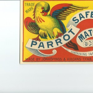 """The Parrot"" Swedish match – Nostalgia Postcard"