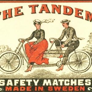 """The Tandem""  Swedish Match – Nostalgia Postcard"