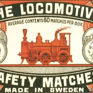 """""""The Locomotive""""  Swedish Match – Nostalgia Postcard"""