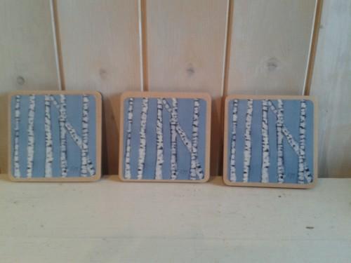 Blue Birch Tree Coaster