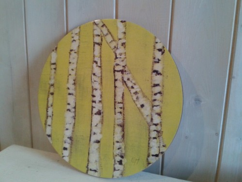 Green Birch Tree Round Placemat