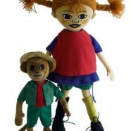 Pippi Långtrump & Herr Nilsson Dolls (* Pippi Longstocking & Mr Nilsson dolls)