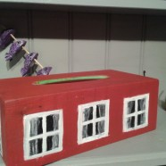 """The """"RedTissueHouse""""- A very Swedish Falured paint Tissuebox"""