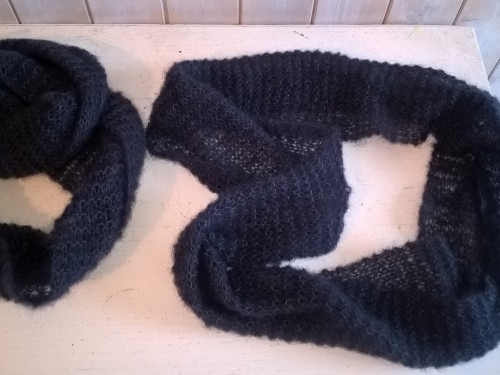 """Oh So Cosy"" – Blue Navy/ Soft Blue Snood/Scarf  – Made in Sweden"