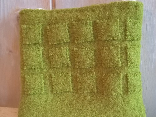 """Swedish Moss"" – Cute & soft as moss Make-up Purse in wool"