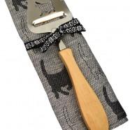 """CAT"" Swedish Cheese Slicer & Cat Kitchen Towel – Gift set"
