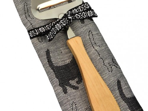 """CAT"" Swedish Cheese Slicer & Cat Kitchen Towel – Gift set"