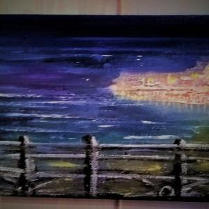 Twilight over Brighton Palace Pier – Acrylic on Canvas
