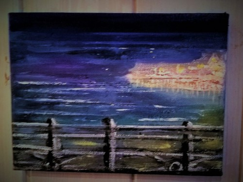 Twilight over Brighton Palace Pier – Acrylic on Canvas