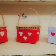 Valentine Heart Basket – Swedish handpainted basket with hearts
