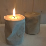 """Absolute Zero"" – 33 cl of Chunky Concrete, Candle Holders shaped from recycled Coca-Cola Cans"