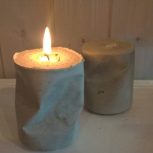 """""""Absolute Zero"""" – 33 cl of Chunky Concrete, Candle Holders shaped from recycled Coca-Cola Cans"""