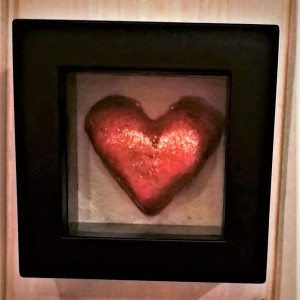Valentine Heart in a frame – Sparkling Red Heart