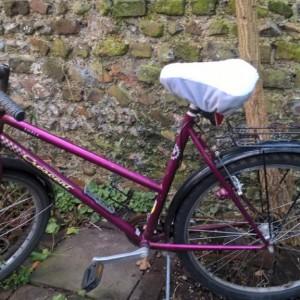 bike seat cover outside sheepskin