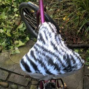 bike seat  cover stripey top