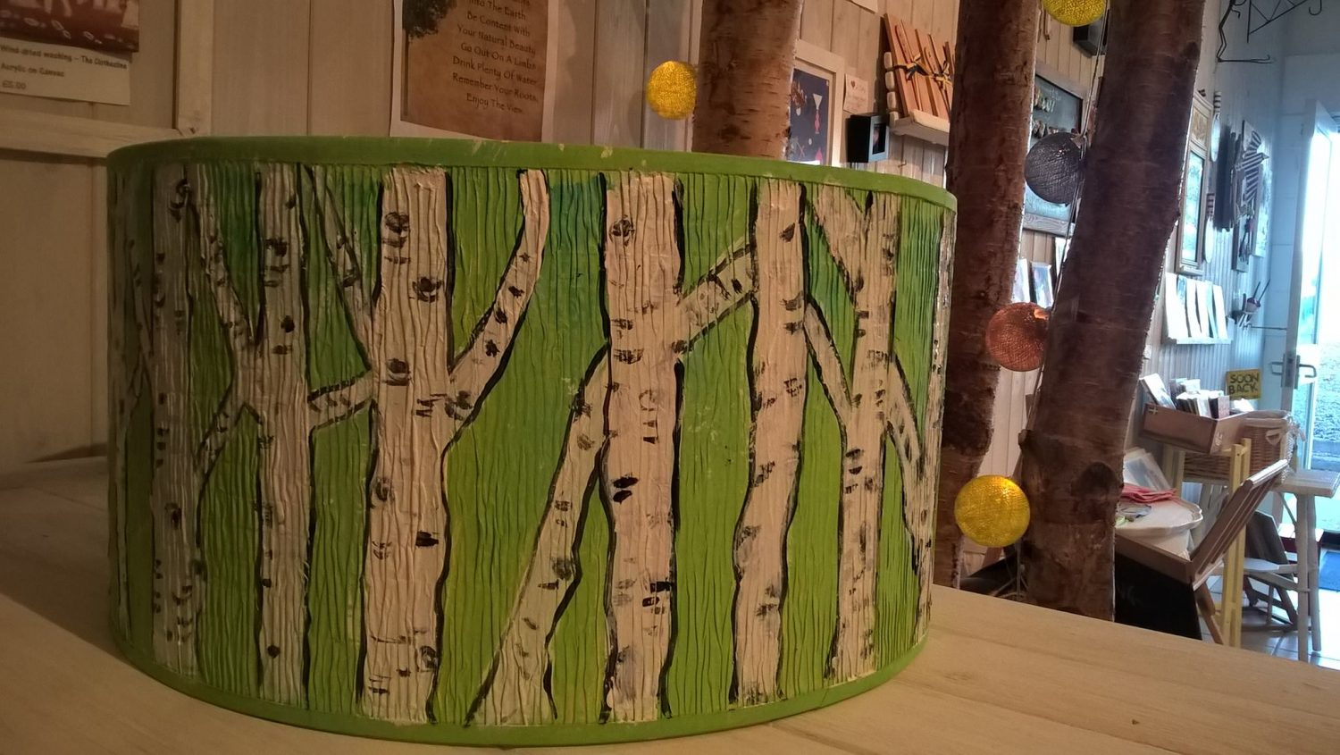 Oh so swedish oh so swedish green birch tree drum lampshade oh so swedish green birch tree drum lampshade mozeypictures Gallery